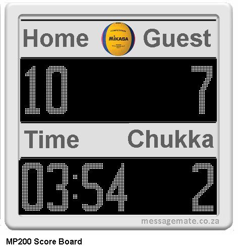Scoreboard Waterpolo model 1
